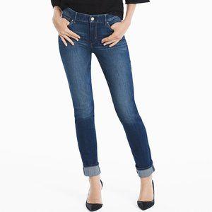 WHBM The Slim Dark Wash Skinny Jeans 4